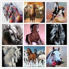 Очаровательная Алмазная картина, домашний декор, висячая картина, животное, лошадь, 5D, сделай сам, квадратная и круглая Алмазная вышивка, моз...
