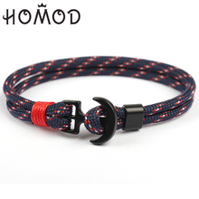 HOMOD New Arrival Fashion Jewelry Navy Style Sport Camping Parachute Cord Anchor Bracelet Men Women Handmade Bracelets
