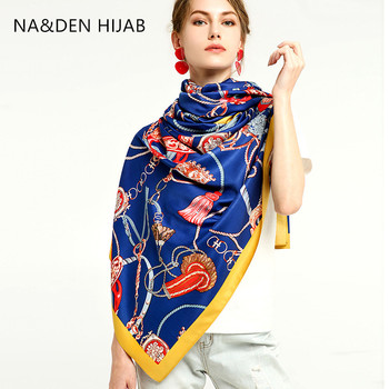 Chalws lisos Hi-Q lady envuelve pañuelo islámico cinturones de cadena bufanda musulmana hijab viscosa geométricas bufandas 10 uds/lote larga silenciador