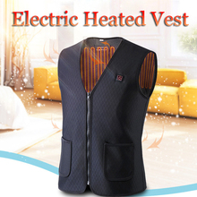 Outdoor USB Infrared Heating Vest Jacket Men Women Winter Flexible Electric Thermal Clothing Waistcoat Fishing Hiking Vest Sets cheap EA5130 Fits true to size take your normal size
