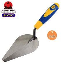 7 Inch Margin Trowel with Comfort Plastic Handle for Hand Tools DIY Bricklaying Trowel