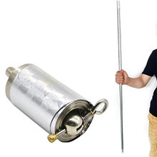 Artes marciais metal haste retrátil varinha mágica varas telescópicas adereços mágicos ao ar livre esporte estágio desempenho