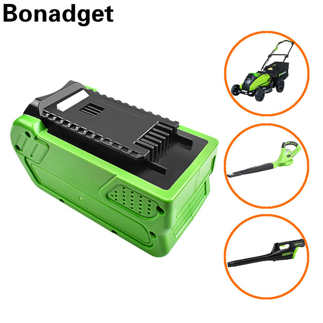 $ US $65.44 Bonadget 40V 6000mAh Rechargeable Replacement Battery for Creabest 40V 200W GreenWorks 29462 29472 22272 G-MAX GMAX L30