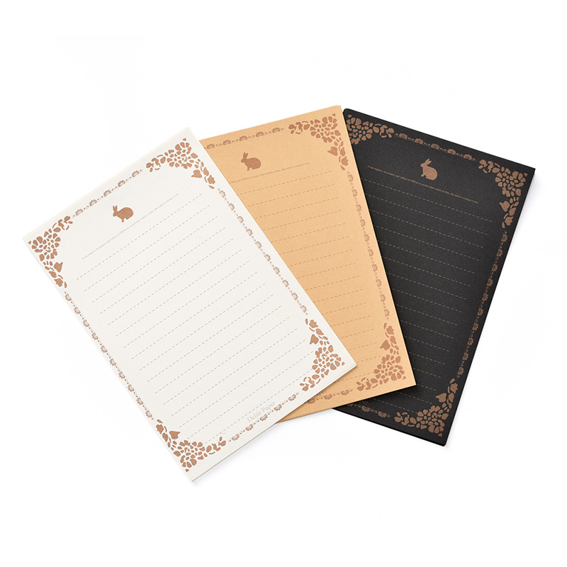 [Writing Paper] South Korea Stationery Retro Kraftpaper Small Love Letter Grocery-Style Writing Paper Letter Writing Practice Bo