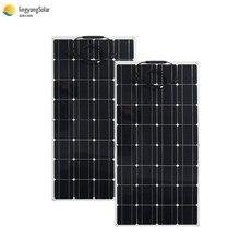 Китайская Гибкая солнечная панель 100 Вт 18 в, фотоэлектрическая панель, солнечная батарея 12 В, зарядное устройство, моно солнечный элемент, штекер и гнездо