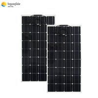 China flexible solar panel 100w 18v photovoltaic panel,panel solar 12v battery charger , mono solar cell MC4 cable connector