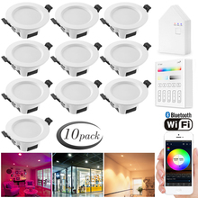 10X RGB Warm Cool White 3 in 1  LED Ceiling Lamp Down Light WIFI / Bluetooth Mesh /Touch Panel/APP/Voice Controller Timer Dimmer