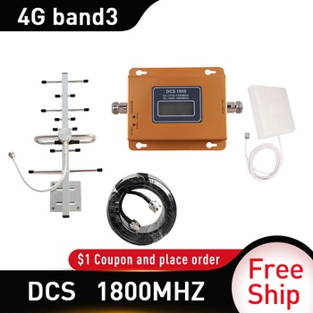 Russia 4g signal booster lte dcs 1800 mhz repeater gsm 4g mobile signal repeater 1800mhz cellular signal amplifier Band 3 panel