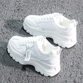 Shoes the new spring 2020 fashion sneakers thick bottom comfortable casual shoes platform shoes all leather waterproof big yards keerygo women s shoes inside and outside the full leather lace leather shoes comfortable feet big shoes