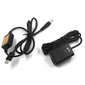 "Image 2 - NP FW50 NPFW50 דיגיטלי dummy סוללה מטען USB C כבל פ""ד 5V 9V 12V עבור sony a7II a6000 a7RII a6300 a5100 a7s a7 a7R a7sII"