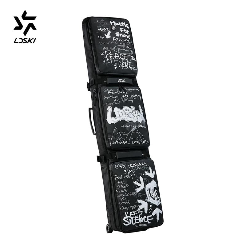 Wheeled Ski Bag Snowboard Bag TPU Coated heavy duty outdoor bag LDSKI LUXURY Series Winter sports