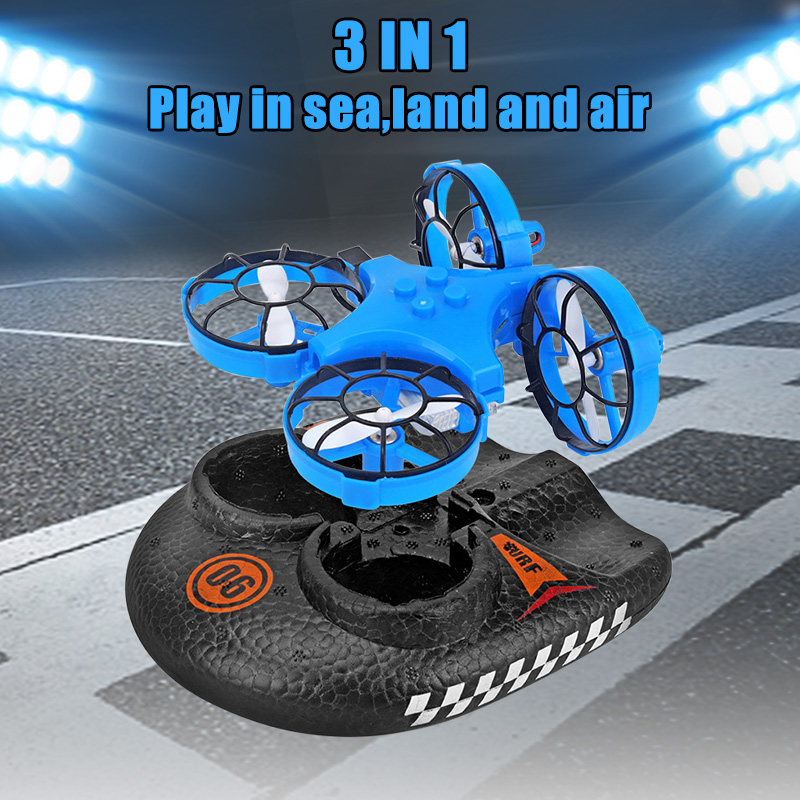 3 in 1 Flying Air Boat Land Driving Mode Detachable RC Drone 3 Speed Modes Quadcopter YS-BUY image