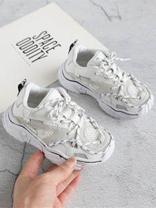 Kids Sneakers Shoelace Sport-Shoes Reflective Tennis Toddler Girls Boys Fashion Breathable