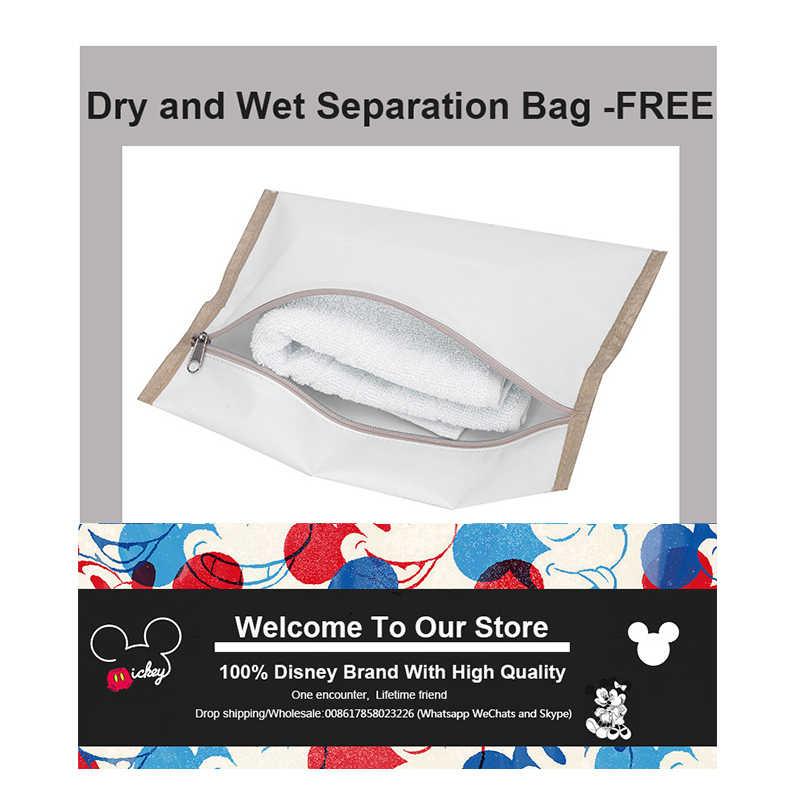 Disney torba na pieluchy dla mamy macierzyńska torba na pieluchy dla dzieci opieka nad dzieckiem designerski plecak podróżny Mickey torby torebka szara i czarna