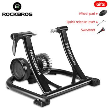 ROCKBROS rower ćwiczenia cichy odporność na płyn rower trener MTB szosowe kryty Fitness konkurs składany stojak treningowy tanie i dobre opinie KW-7073-36