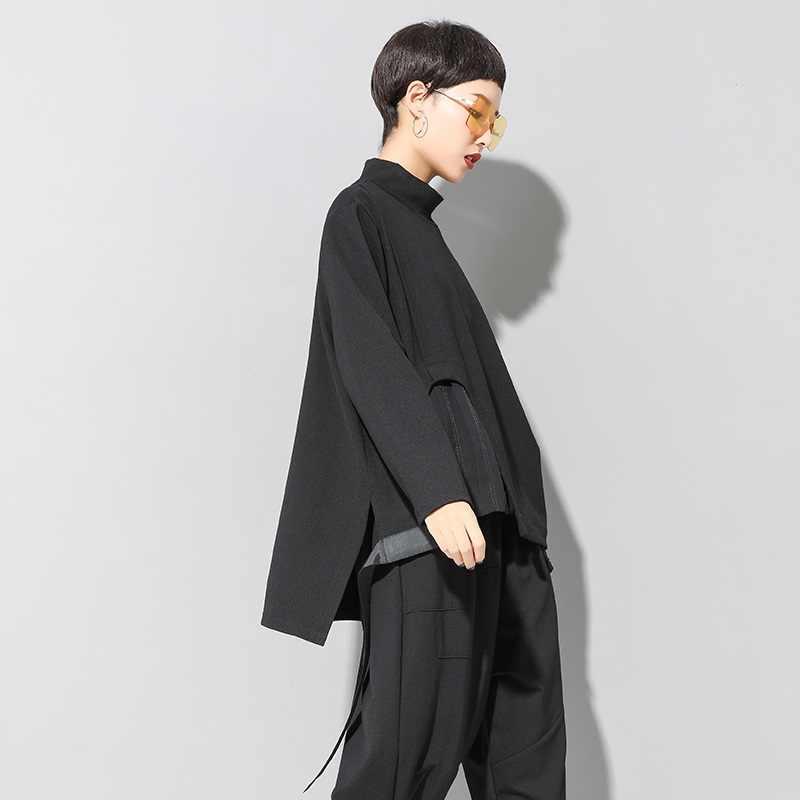 Manica Lunga Più Il Formato Irregolare Autunno Inverno Allentato Casuale Tee T Delle Donne Della Camicia T-Shirt Donna Tshirt Vestiti 2020 Parti Superiori Streetwear