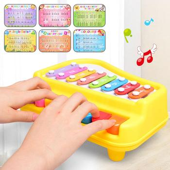 1 Pcs Kids 2 in 1 Piano Xylophone Toy Musical Instrument with Music Cards Mallets Educational Toys For Kids Musical Instrument musical instrument 16 crash cymbal