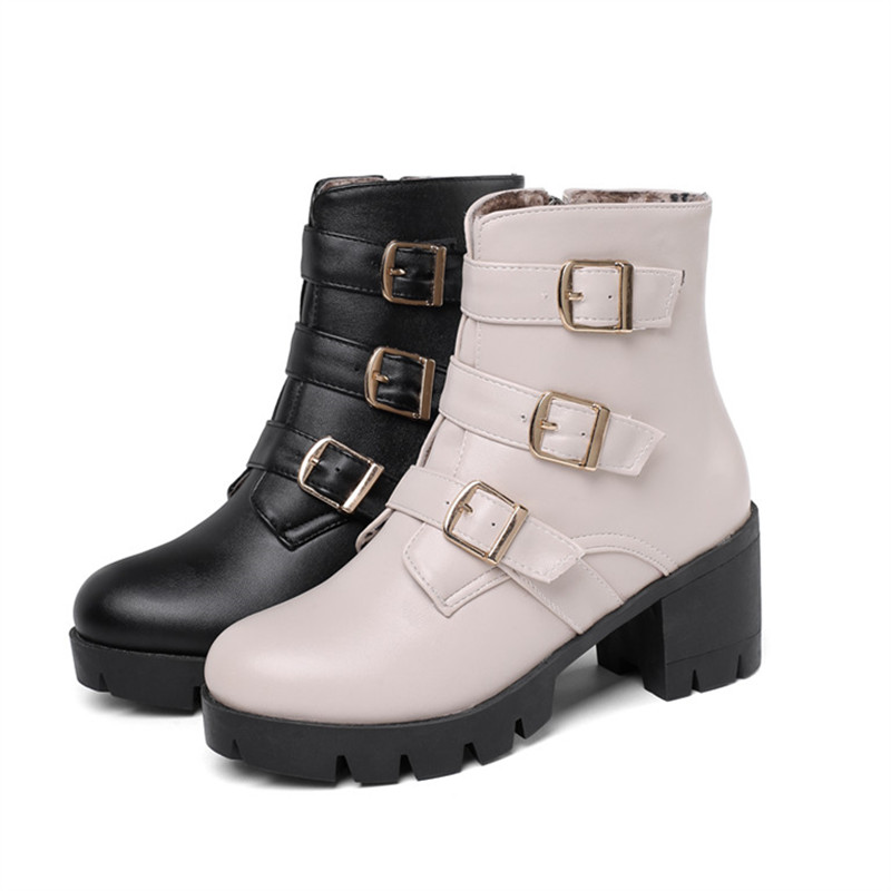 Image 5 - MORAZORA 2020 new arrival women ankle boots buckle zip autumn winter high heels platform boots fashion casual shoes ladies-in Ankle Boots from Shoes