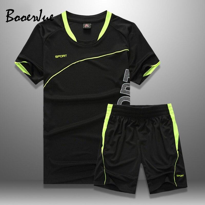 Mens Tracksuits Set 2020 Summer Men Shorts Sets New Sportswear Short-Sleeved Shirts +Shorts Casual Outwear Man Sport Sweat Suits