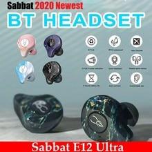 Sabbat E12 Cực Bluetooth 5.0 TWS Tai Nghe Không Dây Sạc Hộp Mini Di Động Vô Hình Tai Nghe Nhét Tai Chống Nước Stereo TWS PK X12