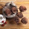 60cm Natürliche Kiefer Kegel DIY Getrocknete Blume Hochzeit Dekoration für Home Party Weihnachten Baum Dekorative Künstliche Getrocknete Blumen