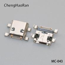 100 ชิ้น/ล็อต Micro USB jack socket ชาร์จพอร์ตสำหรับ Samsung Galaxy Ace 2 S3 mini I8160 I8190 S7562 S7562i s7568 ฯลฯ