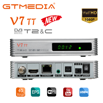 GTmedia V7 TT Terrestrial Receiver DVB-T2 Satellite Receiver decoder TV Box Set Top Box Support M3U DIY For TTPRO Update Version dvb t2 dvb t h 264 full 1080p mpeg 2 4 digital tv tuner iptv m3u hd set top box support youtube meecast terrestrial receiver