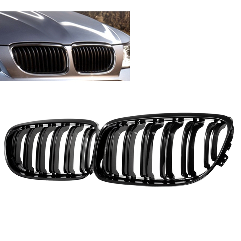 1 Pair Car Front Grille Gloss Black Inlet Grille for BMW E90 LCI 3 Series Sedan/Wagon 2009   2011|Racing Grills| |  - title=