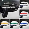 2 шт., светоотражающие автомобильные наклейки для зеркала заднего вида