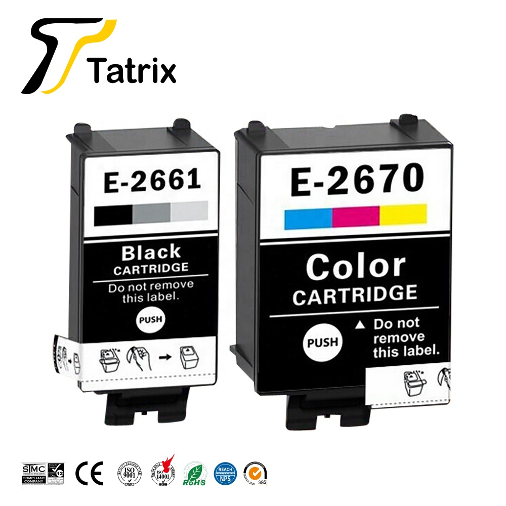Tatrix For Epson T2661 T2670 T266 EPSON 266 267 Pigment Compatible Cartridge For Epson  Workforce WF-100W  WF100W Printer Europe