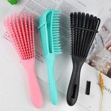 Salão de beleza detangling escova para cabelo encaracolado antiderrapante borracha polvo escova de cabelo pente escova de massagem couro cabeludo escovas de estilo de cabelo ferramenta