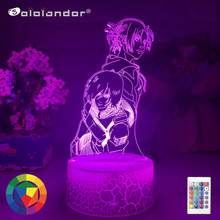 New Anime Attack on Titan 3d Lamp Annie Leonhart Light for Bedroom Decoration Kids Gift Attack on Titan LED Night Light Mikasa cheap Sololandor CN(Origin) AYG02-NN-754 Night Lights Plastic LED Bulbs Switch Dry Battery HOLIDAY 0-5W 7 Colors Change Wholesale Price