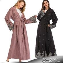 Abayas Ramadán para damas vestido musulmán Hijab caftán Kimono cárdigan Abaya Kaftan Dubai catar UAE túnica de Omán para mujer ropa islámica