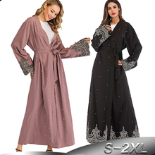 Vestido abayas feminino de ramadã, vestido de hijab robe feminino islâmico casaco kimono abaia dubai dubai qatar oman