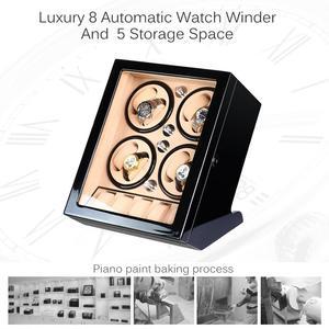 Image 2 - FRUCASE Schwarz hohe fertig Automatische Uhr Wickler uhr schmuck schrank display box kollektor speicher Stille in bett zimmer