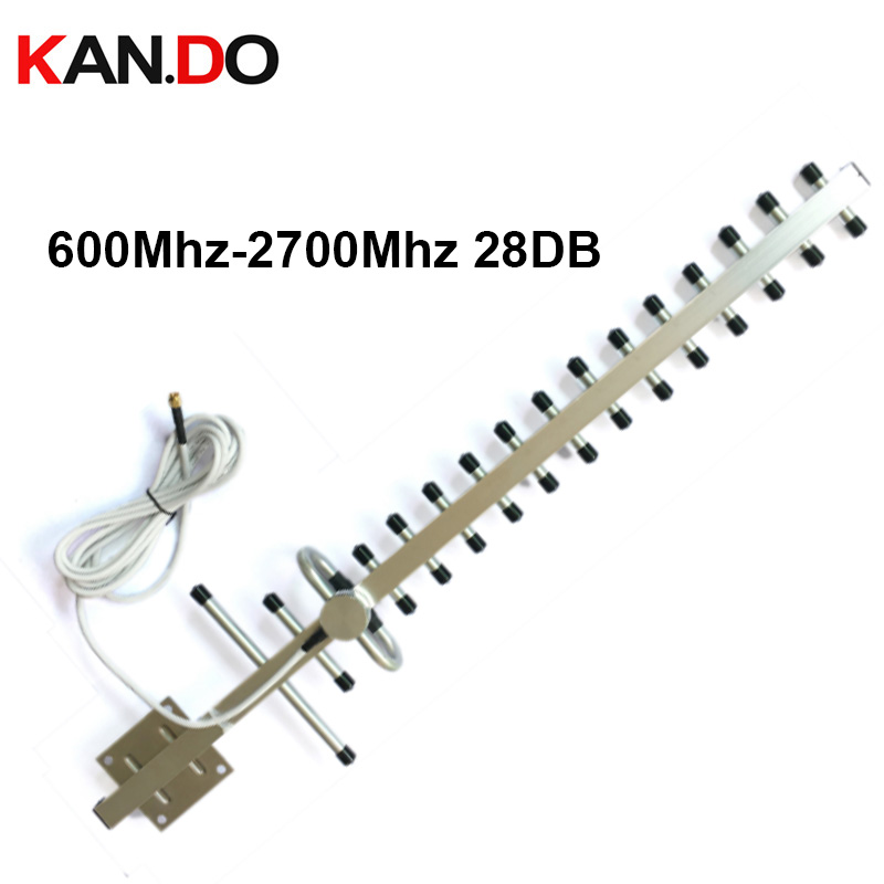 2G 3G 4G Yagi Antenna 697-2700mhz Wide Frequency 13-28dbi 4G Antenna 3G Antenna Yagi For Signal Booster Repeater