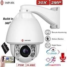 Auto tracking PTZ camera 1080P 2mp ir speed outdoor dome 20x optical zoom ptz ip pan tilt