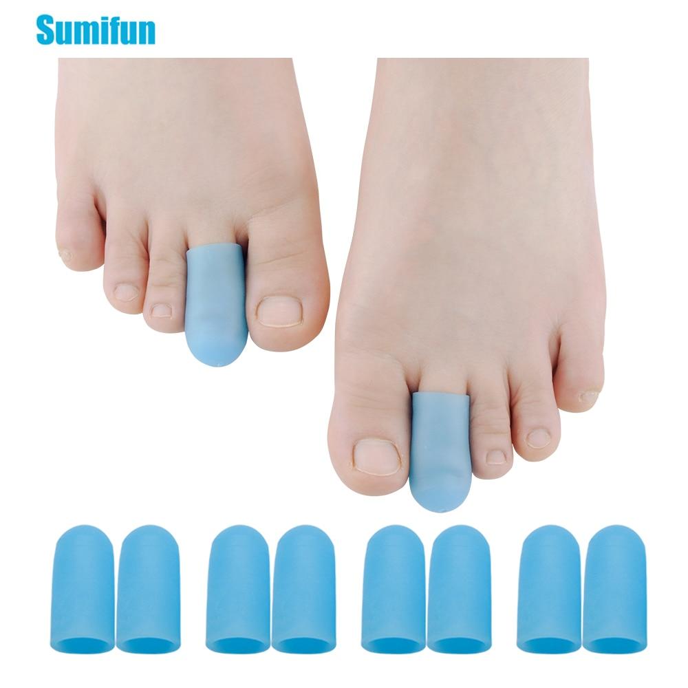 2Pcs Blue Gel Tube Cushion Corns Calluses Hallux Valgus Orthopedics Bunion Guard Toe Protector Feet Pain Relief Z66201-old