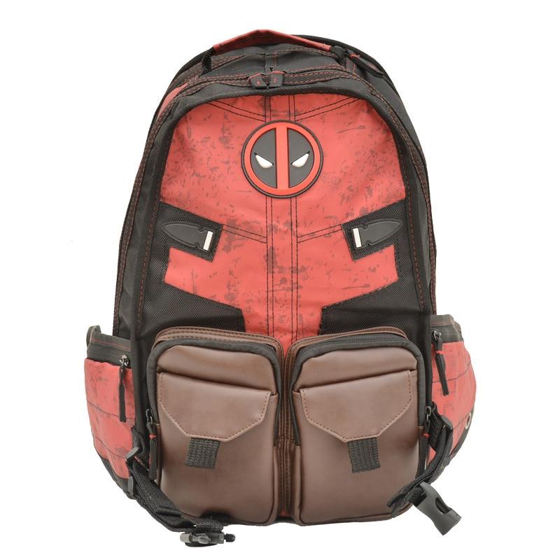 New Deadpool Backpack Marvel Bag Deadpool Death Waiter Batman Series Backpack Student Bag