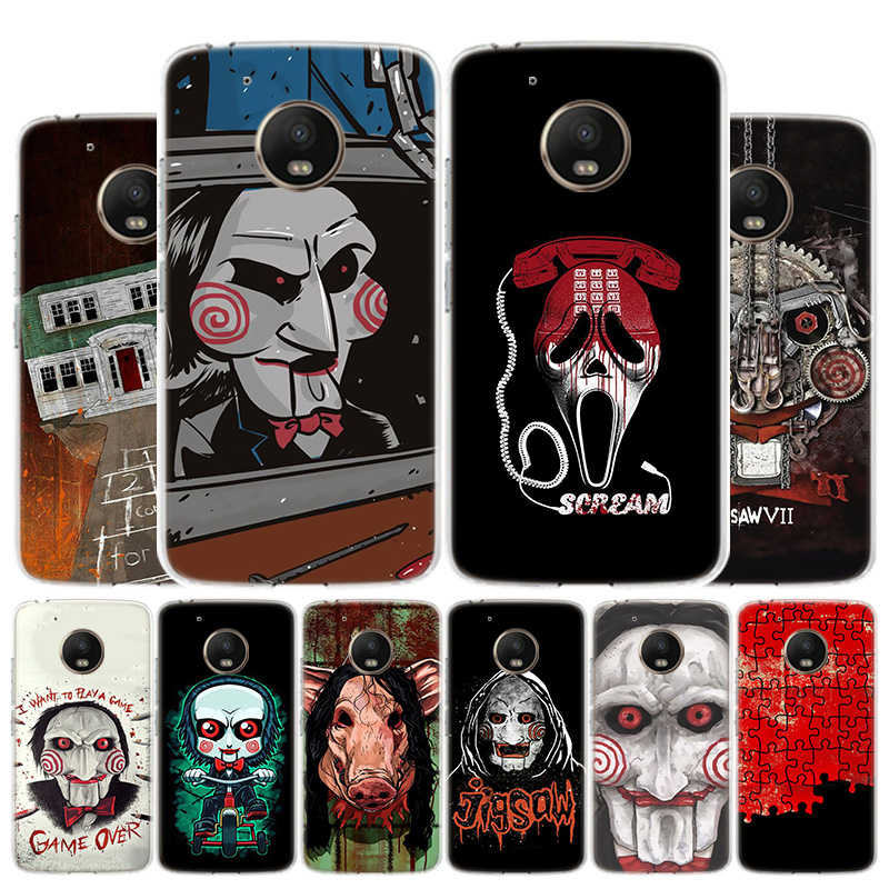 SAW The Jigsaw Killer Horror Film Phone Case For Motorola Moto G8 G7 G6 G5S G5 G4 E6 E5 E4 Plus Play Power One Action X4 Cover C
