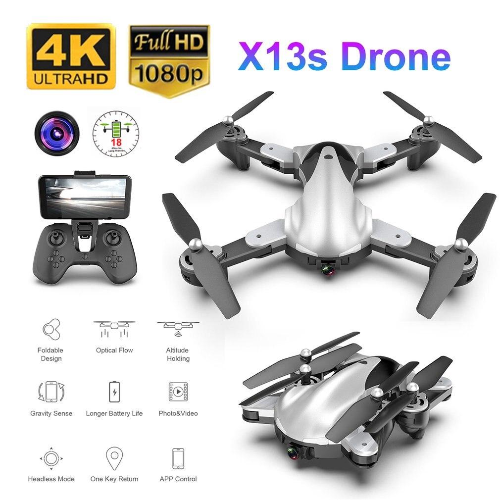 X13S pliable RC Drone 1080 P/4 K caméra geste Photo vidéo optique position de flux RC hélicoptère avion