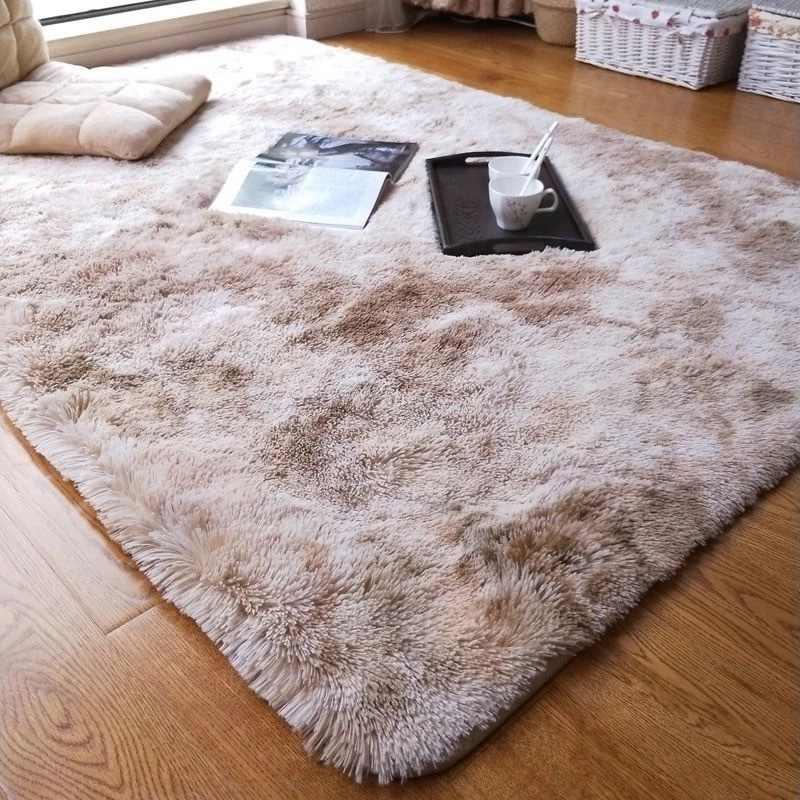 Motley Plüsch Teppiche Für Wohnzimmer Weichen, Flauschigen Teppich  Wohnkultur Shaggy Teppich Schlafzimmer Sofa Kaffee Tisch Boden Matte  Garderobe ...