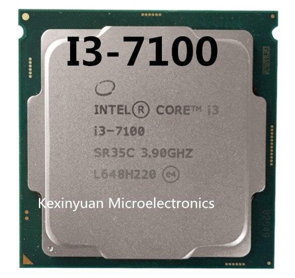 Processeur Intel Core i3 7100 series I3 7100 I3-7100 CPU LGA 1151-FC-LGA terre 14 nanomètres i3-7100 double coeur