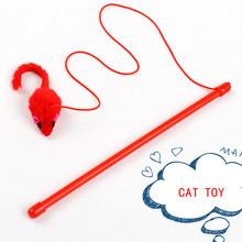Zabawka dla kota ładny wzór mysz kij Teaser Wand plastikowa zabawka dla kota zabawki Pet tunel dla kota gruby kot ładny tanie tanio Myszy i zwierząt zabawki Z tworzywa sztucznego XWY605