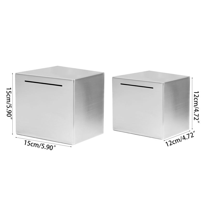 Safe Piggy Bank Made of Stainless Steel,Safe Box Money Savings Bank for Kids,Can