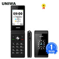 UNIWA X28 Senior Flip Handy GSM Big Push-Taste Flip Telefon Dual Sim FM Radio Russisch Hebräisch Tastatur clamshell Handy