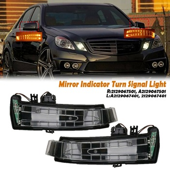 Left Right Side Mirror Indicator Turn Signal Light for Mercedes Benz C E S-Class W204 W212 W221 2007-2013