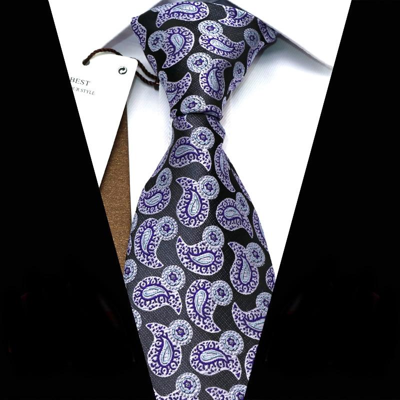 YISHLINE Mens Ties 8 CM Fashion Cute Small Paisey  Jacquard Woven Necktie Men Tie 2020 Business Corbata Para Hombre Accessories