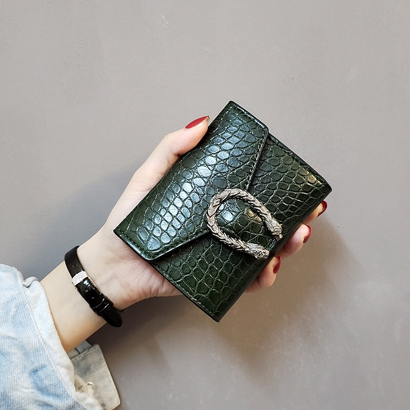 Women's Wallet Fashion New Leather Purse Coin Pocket Wallets Ladies Female Cash Card Holder Crocodile Pattern Luxury Design
