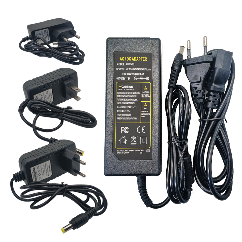 Power Adapter Supply DC 5V 12V 24V 1A 2A 3A <font><b>5A</b></font> 6A 8A DC <font><b>5</b></font> 12 24 <font><b>V</b></font> Volt Lighting Transformers LED Driver Power Adapter Strip Lamp image
